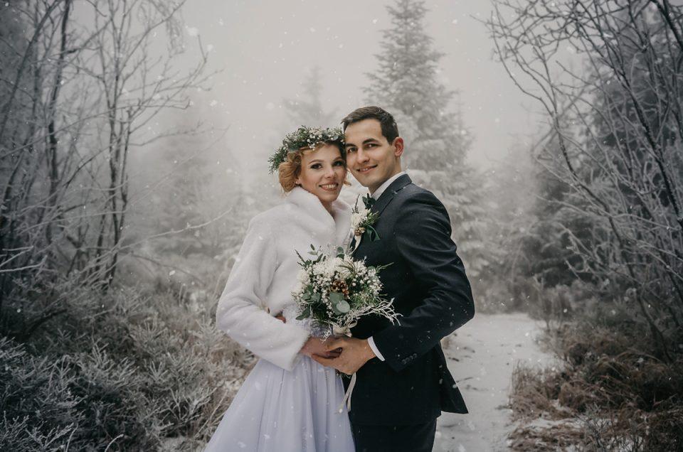 Zimní svatba v Orlických horách